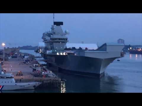 Close View Of HMS Queen Elizabeth