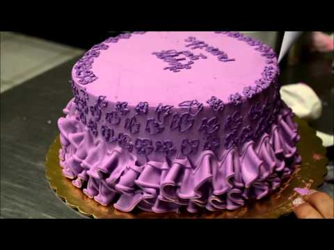 Purple Dress Theme Birthday Cake