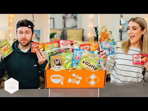 British People Trying Japanese Candy pt2 - In The Kitchen With Kate