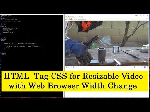 HTML CSS Tags Resize Video on Browser Width Change