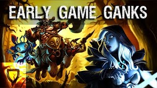 Early Ganks & Rotations For Every Position | How To Play Dota 2 | PVGNA.com