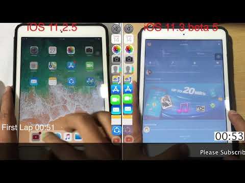 iOS 11.3 beta 5 vs iOS 11.2.5/6 speed test on iPad mini 2 | TechViewer