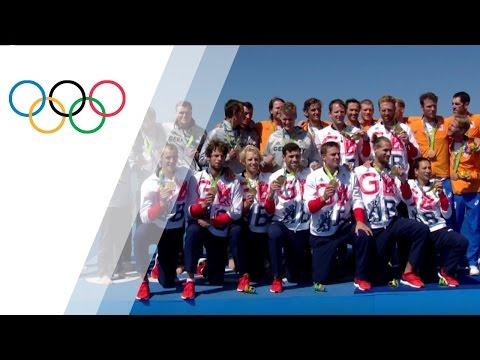 Team GB's rowing team wins gold in Men's Eight