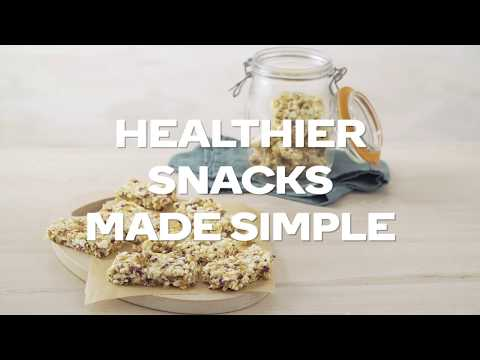 How to make healthier snacks - popcorn rocky road
