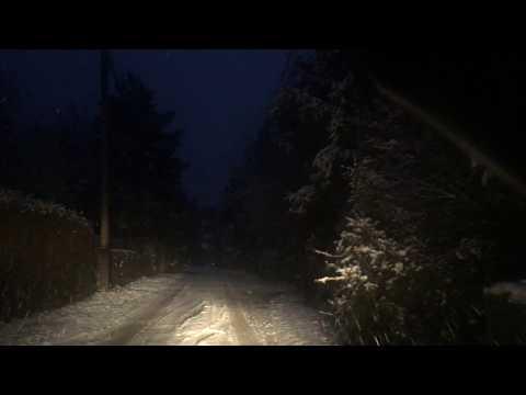 Schnee Strassen Deutschland