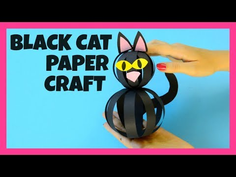 Black Cat Paper Strips - Halloween craft ideas for kids