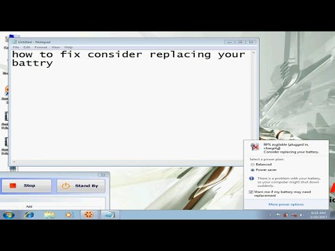 how to fix consider replacing your battery problem 2017
