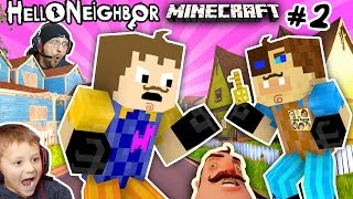 MINECRAFT HELLO NEIGHBOR & HIS BROTHER FIGHT 4 Basement Key |FGTEEV Scary Roleplay Games for Kids #2