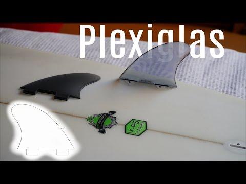 Building Plexiglas fcs fins