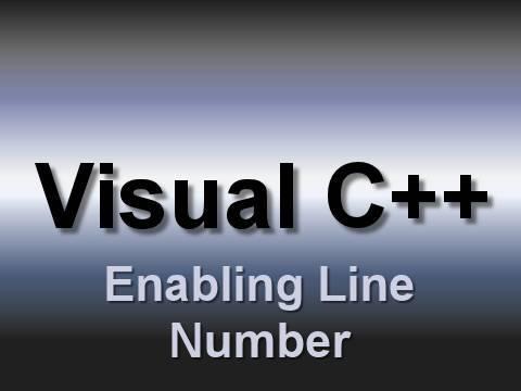 Visual C++: Enabling Line Numbering