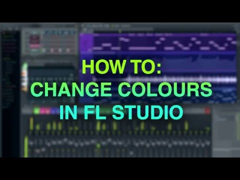 How to change colours in Fl Studio