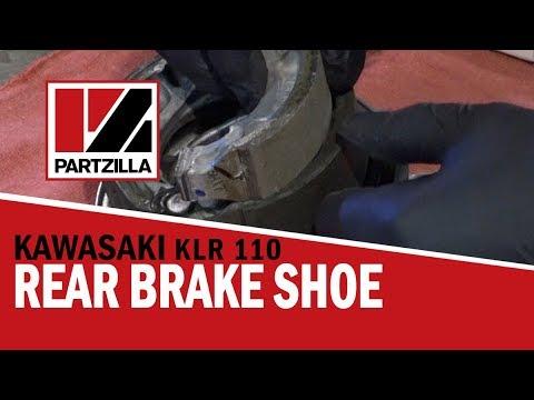 How to Change Rear Brake Shoes on a Kawasaki KLX 110 Dirt Bike | Partzilla.com