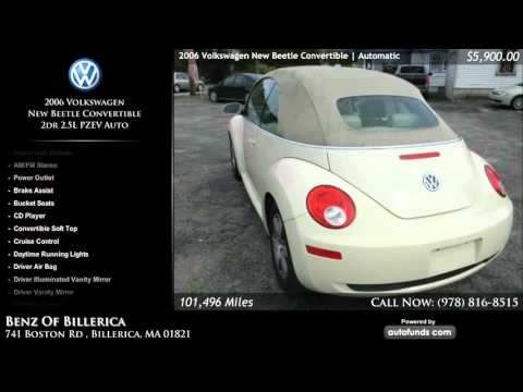Used 2006 Volkswagen New Beetle Convertible | Benz auto sales of Billerica, Inc, Billerica, M - SOLD