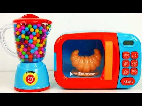 Microwave Blender Kitchen Playset and Cooking Play Doh Food