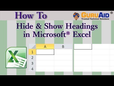 How to Hide & Show Headings in Microsoft® Excel - GuruAid