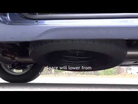 How to Access the Spare Tire: 2014 Toyota Sienna in Raleigh