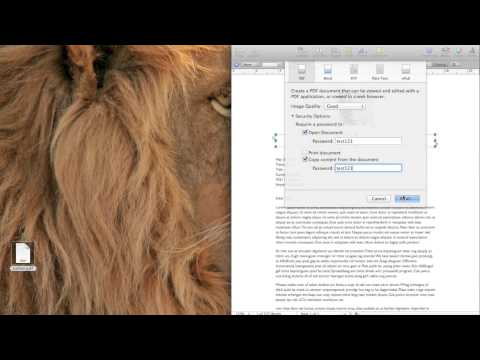 How to Create a Password Protected PDF File in Mac OS X using Pages