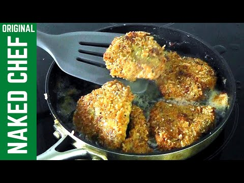 LAMB CHOPS in breadcrumbs with garlic herbs & parmesan recipe