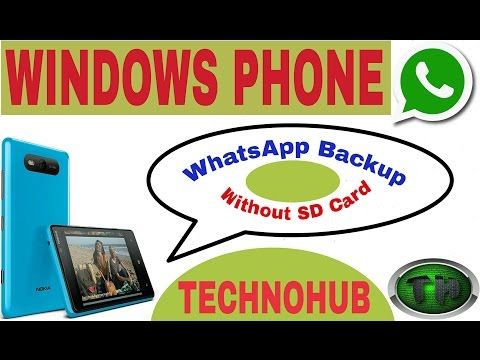 How to take whatsapp backup in windows phone without sd card(On My Subscriber's Demand)