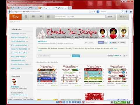 How To Upload Your Etsy Banner