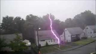 lightning strike by the house by MattHoff4Designs