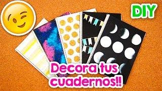 Diy | 5 Ideas Para Forrar Y Decorar Tus Cuadernos!! Vol. 1   Blooper | FÁcil | Pumitanegraart 🐾