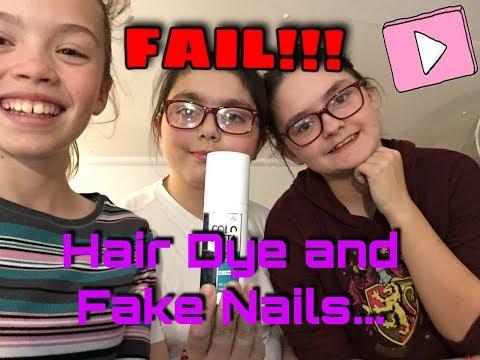 Hair Dye and Fake Nails... FAIL??!!   TripleTheFun