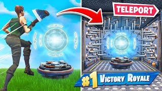 TRAPPING Enemies in *NEW* TELEPORTS In Fortnite Battle Royale!