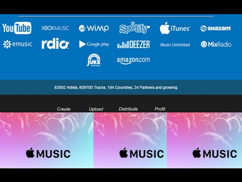 FOR FREE: Get Your Music On Apple Music, Spotify, iTunes, Tidal, Deezer, Shazam and more