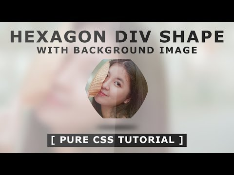 Hexagonal Div Shape With Background Image Using CSS - Tutorial - Css Quick Tips And Tricks