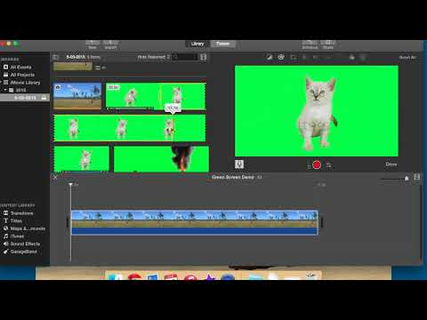How to use the green screen in iMovie.