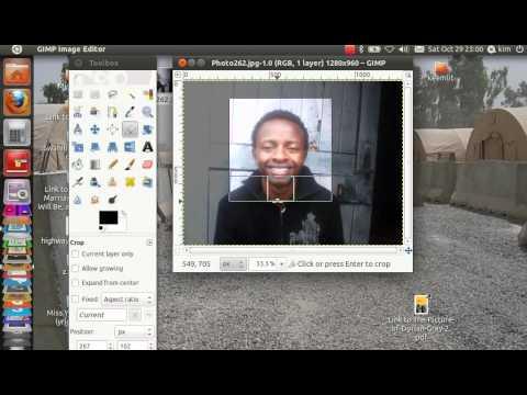 To make your greencard passport photo 600x600 pixels on Ubuntu.
