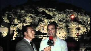 Gaeta/Cosmo Mitrano illumina il mausoleo di Lucio S. Atratino