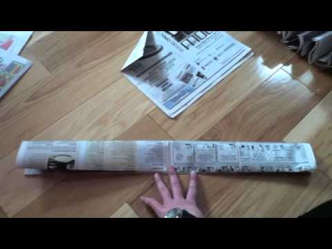 how to make a skirt out of newspaper