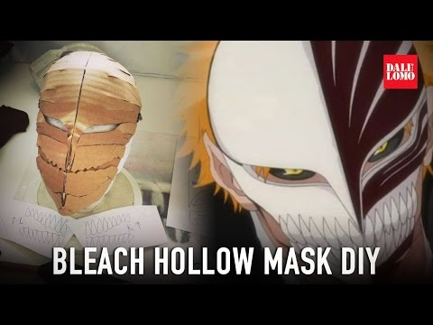 DIY Bleach Hollow Mask Part 1 - Cardboard (JapanGoodsUK)
