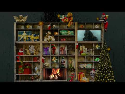 Christmas Type Case with Crackling Fireplace, Wind and Rain Sounds