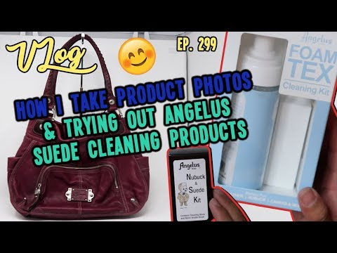 HOW I TAKE PRODUCT PHOTOS & TRYING OUT NEW ANGELUS SUEDE CLEANING PRODUCTS   VLOG EP. 299