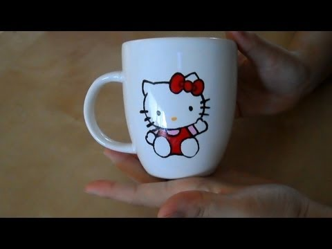 DIY: Mug painting 3 (Hello Kitty)