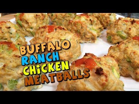 Buffalo Ranch CHICKEN Meatballs Recipe