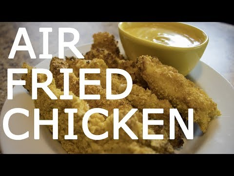 Air Fryer Corn Flakes Crusted Chicken Tenders Recipe   Easy Air Fried Chicken Tutorial