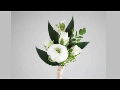 White Buttonhole - Wedding Rose Country Style | How To