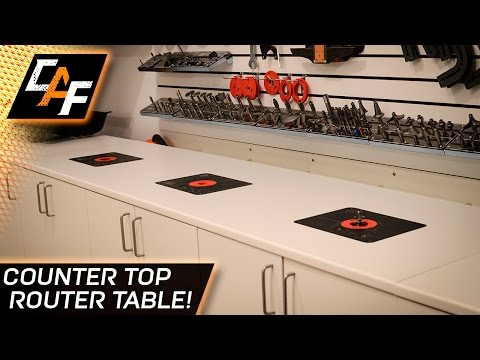 How to Build a Router Table - Add a lift to a counter top - CarAudioFabrication