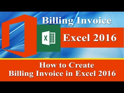 How to create Billing Invoice in microsoft Excel 2016