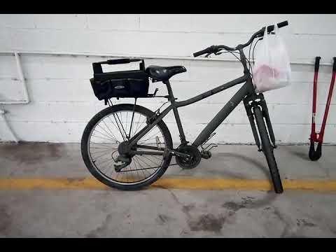 Simple $10 harbor freight bike basket