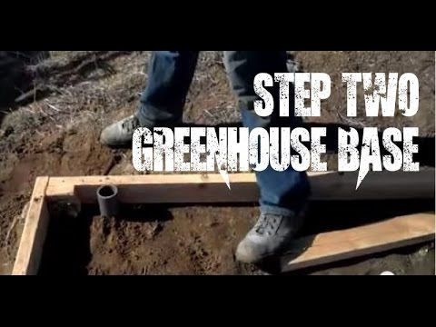 Greenhouse #2: Building the base for the Greenhouse / Hoop house - gardening DIY