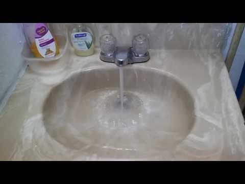 2718#28 Bathroom sink clogged water runs slow