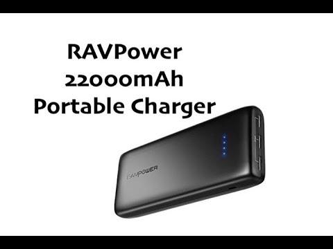 RAVPower Portable CHARGER Bank 22000mAh - 3 USB Ports