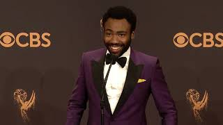 Donald Glover Emmys 2017 Full Backstage Interview
