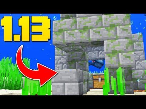 NEW Underwater Ruins, Coral Blocks, Items! Minecraft 1.13 Snapshot Update