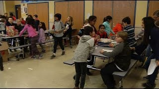 Elementary students learn importance of service and teamwork